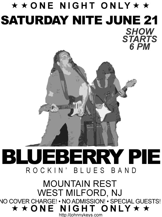 Blueberry pie at the                               Mountain Rest Inn June 21, 2014